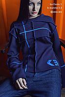 Батник женский, темно-синий, осень-зима BA-DANIE1