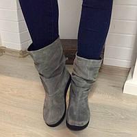 Сапоги демисезонные в стиле Zara серые