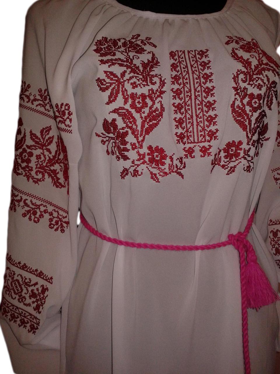 """Женская вышитая рубашка """"Нелайн"""" BU-0015"""