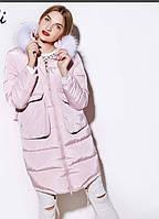 Женская куртка с натуральным мехом