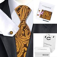Jason & Vogue Мужской подарочный набор галстук, запонки подарок на новый год для мужчины краватка