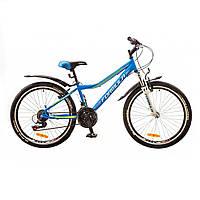 """Велосипед 24"""" Formula FOREST AM 14G  Vbr  рама-12,5"""" St синий  с крылом Pl ST-EF500 2017"""