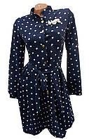 Платье женское полу батал серце на кнопках