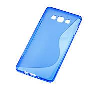 Силиконовый чехол для Samsung Galaxy A7 (A700) New Line синий