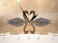 "Настенные часы ""Лебеди в тумане""  кварцевые"