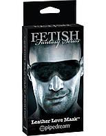 Кожаная маска для глаз FF Series Limited Edition Leather Love Mask, фото 1
