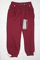 Трикотажные спортивные штаны для девочки