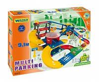 """Паркинг с трассой (9,1м) """"Kid Cars 3D"""", в кор. 78*53см, ТМ Wader (4шт)"""