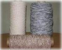 Меланжевые нитки бело/цветные витые 410 текс