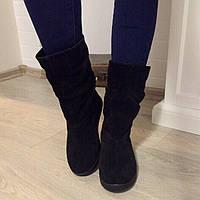 Сапоги демисезонные в стиле Zara черные