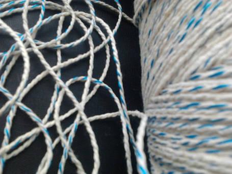 Шпагат хлопчатобумажный 610 текс для сарделек бело/цветной крученый, фото 2
