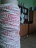 Шпагат-веревка колбасный 810 текс бело/цветной крученый