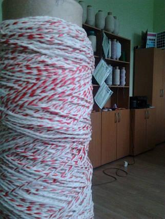 Шпагат-веревка колбасный 810 текс бело/цветной крученый, фото 2