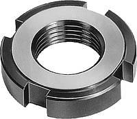 Гайка круглая шлицевая М45х1.5 ГОСТ 11871-88, DIN 981