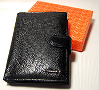 Бумажник мужской кожаный с отделом для паспорта