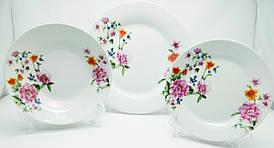 """Набор столовой посуды 18 предметный, 2851-18PC круглый """"Розовые цветы"""""""