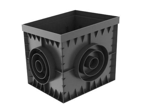 Дождеприемник PolyMax Basic ДП-30.30-ПП пластиковый черный