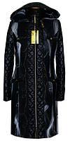Элегантное женское пальто комбинированное двумя видами ткани