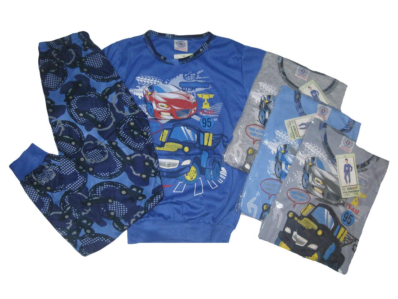 Пижама трикотажная для мальчиков, размеры 98/104-134/140,  арт. 1/894