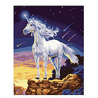 Картина по номерам, Единорог на скале