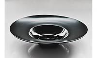 """Тарелка фарфоровая черная для пасты 12"""", диаметр  30,5см"""