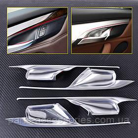 BMW X6 X6 F15 F16 2013-17 хромові декоративні накладки на дверні карти під ручки Нові