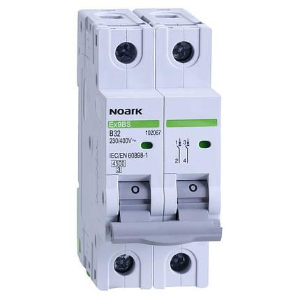 Автоматичний вимикач 4,5 kA, хар-ка C, 40 A, 2 полюси, фото 2