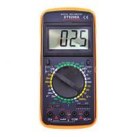 Тестер напряжения 9208А, щуп, термопара, подсветка, тест диодов/транзисторов, зуммер, подставка