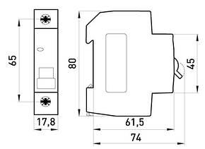 Модульный автоматический выключатель e.mcb.stand.45.1.C3, 1р, 3А, C, 4,5 кА, фото 2