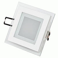 Светодиодный светильник 6w 4000K квадрат со стеклом