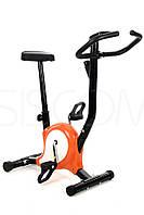 Велотренажер механический  оранжевый Funfit
