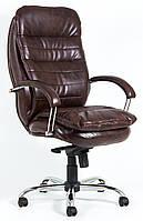 Кресло для руководителя Валенсия хром к/з Мадрас/Тиффани/Титан/Велюр