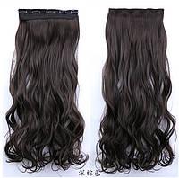 Кучеряве трес,накладне волосся на затискачах темно-руссый