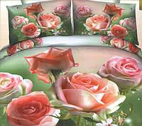 Комплект постельного белья евро размер Розарий  ,  постельное белье