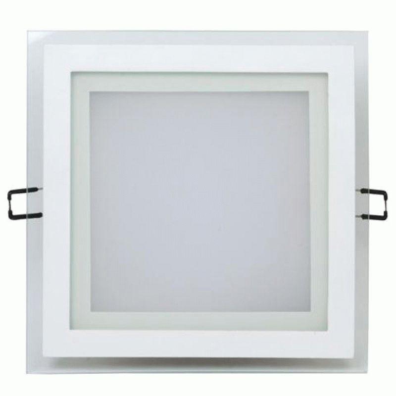 Светодиодный светильник  12w 4000K квадрат со стеклом