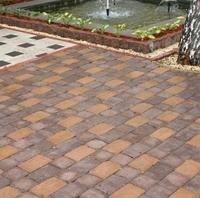 Тротуарная плитка Золотой Мандарин Кирпич Антик 240х160х90 мм персиковый полный прокрас