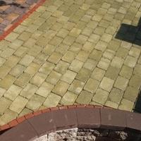Тротуарная плитка Золотой Мандарин Кирпич Антик 240х160х90 мм горчичный полный прокрас