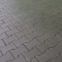 Тротуарная плитка Золотой Мандарин Двойное Т 200х170х80 мм серый