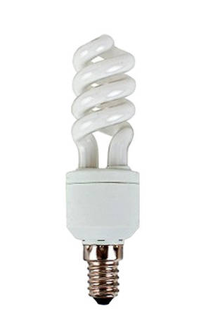 Лампа КЛЛ Volta спираль 230В 11Вт Е14 2700К , фото 2