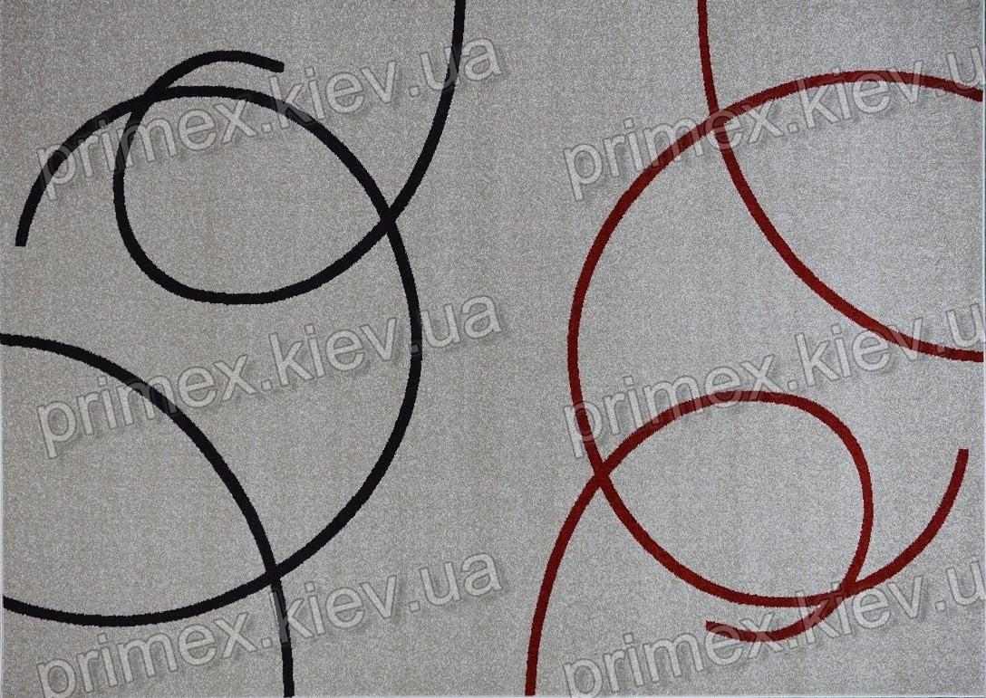 Ковер Optima Bubble, цвет слоновой кости с красным