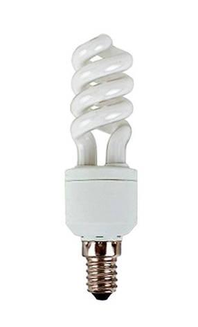 Лампа КЛЛ Volta спираль 230В 11Вт Е14 4000К, фото 2