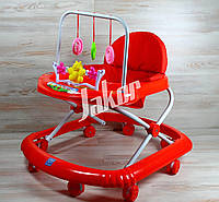 Ходунки детские, ходунки на колесах с погремушками и музыкой