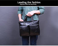 Сумка-портфель мужская под формат А4 из качественной кожи