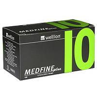 Универсальные иглы Wellion MEDFINE plus для инсулиновых шприц-ручек 10мм (31G x 0,25 мм)