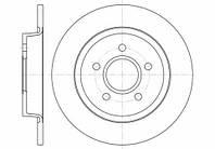 Тормозной диск задний Ford C-Max(2007-) Remsa(671200)
