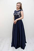 Выпускное темно-синее платье (Т-2017-47)