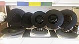 """Тарелка круглая черная матовая плоская с узором 10"""", Диаметр 25,4см, фото 2"""