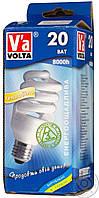 Лампа КЛЛ Volta спираль 230В 20Вт Е27 4000К