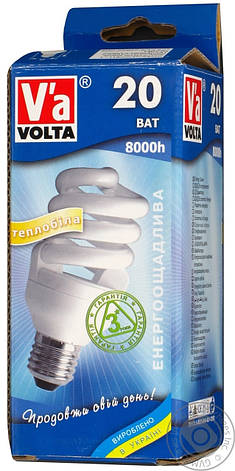 Лампа КЛЛ Volta спираль 230В 20Вт Е27 4000К, фото 2
