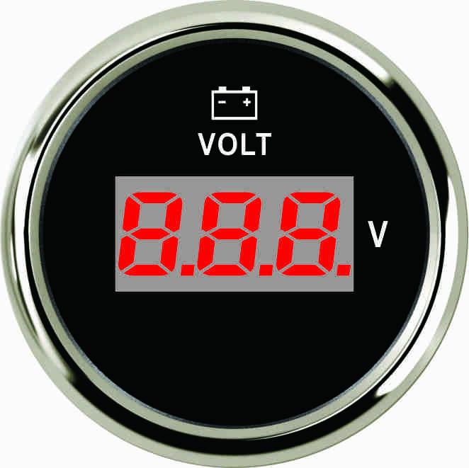 Цифровой вольтметр для судна Ecms черный